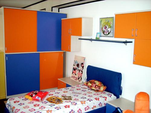 Cameretta Arancione E Blu : Arredamenti palma promozioni camerette